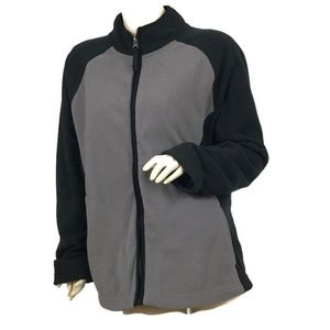 MERONA Women's Size XXL Black & Grey Zip Up Cardig